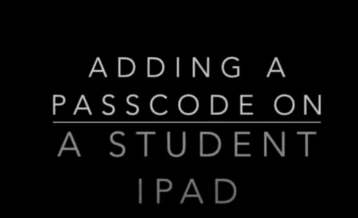 Changing the passcode on a student iPad
