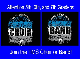 Join the TMS Choir or Band
