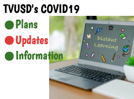 covid19 plans for tvusd students with computer screen
