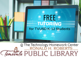 free tutoring for tvusd k12 students with computer screen