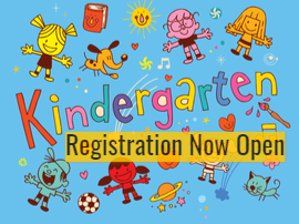 Kindergarten Registration Now Open kids with crayons and toys