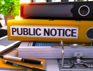notice of public materials up for review