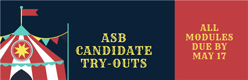 asb candidates see email for tryout instructions