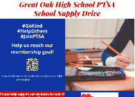picture of PTSA school supply drive flyer