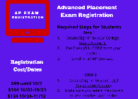 picture of AP Registration flyer